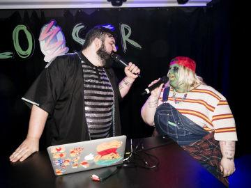 Dueto en el escenario de Algar y Esty