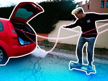 Logan G y Salva surfean con el coche en 'Over Power'